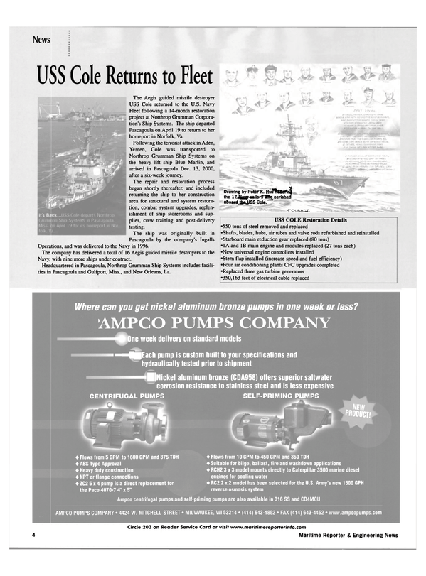 Maritime Reporter Magazine, page 4,  May 2002