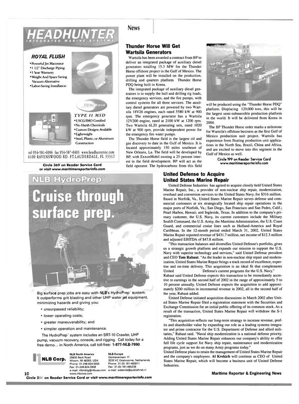Maritime Reporter Magazine, page 10,  Jun 2002 Louisiana
