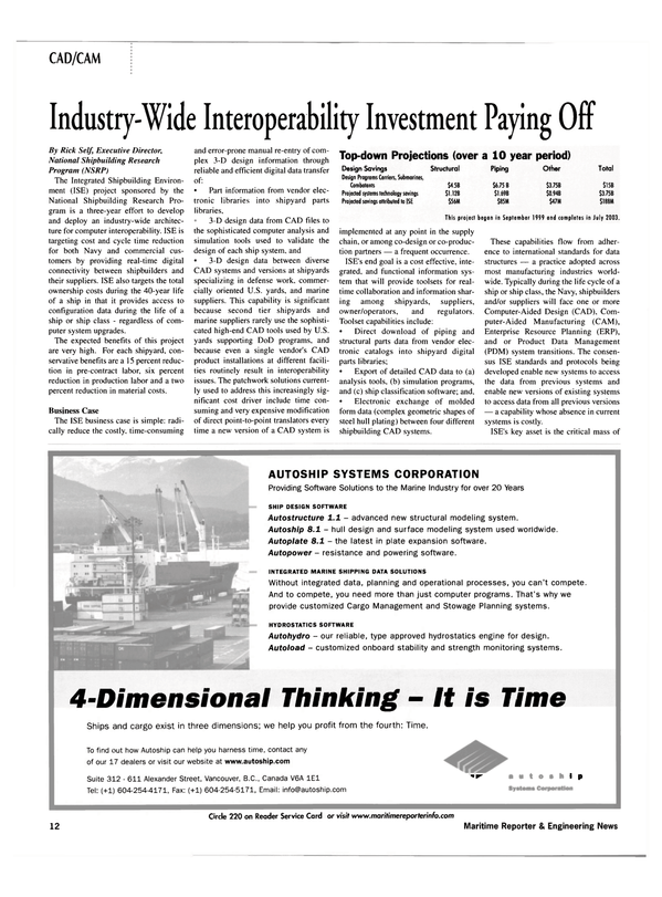 Maritime Reporter Magazine, page 12,  Jul 2002