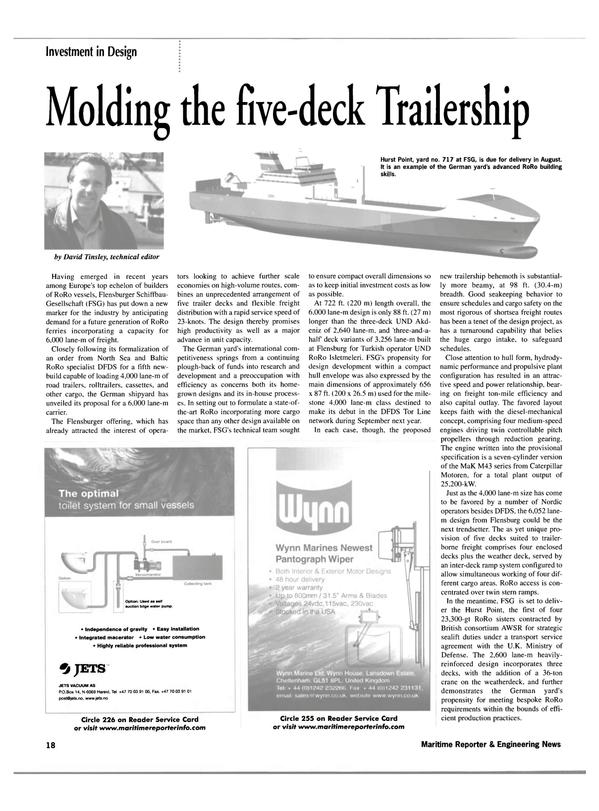 Maritime Reporter Magazine, page 18,  Jul 2002 North Sea