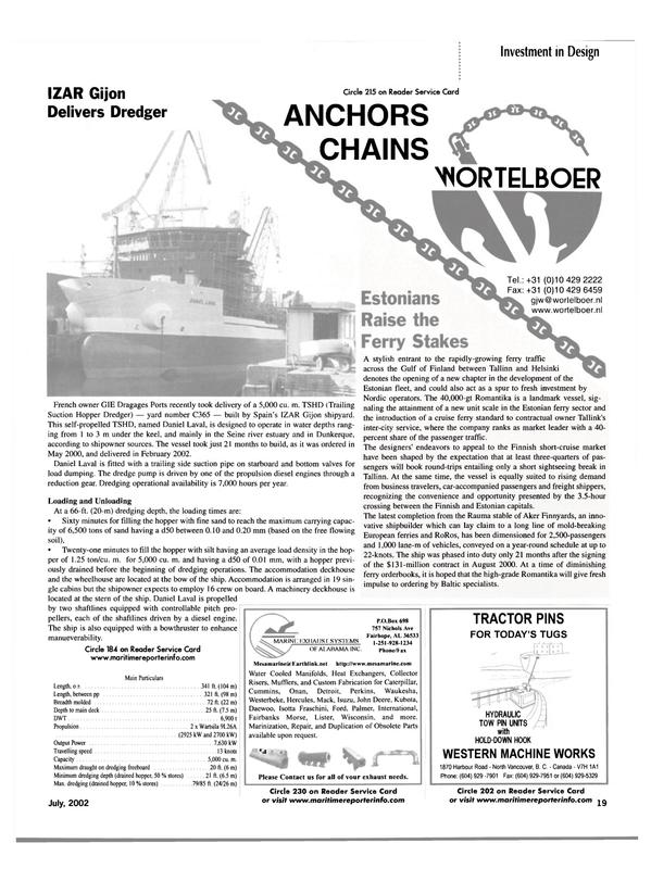 Maritime Reporter Magazine, page 19,  Jul 2002 Heat Exchangers