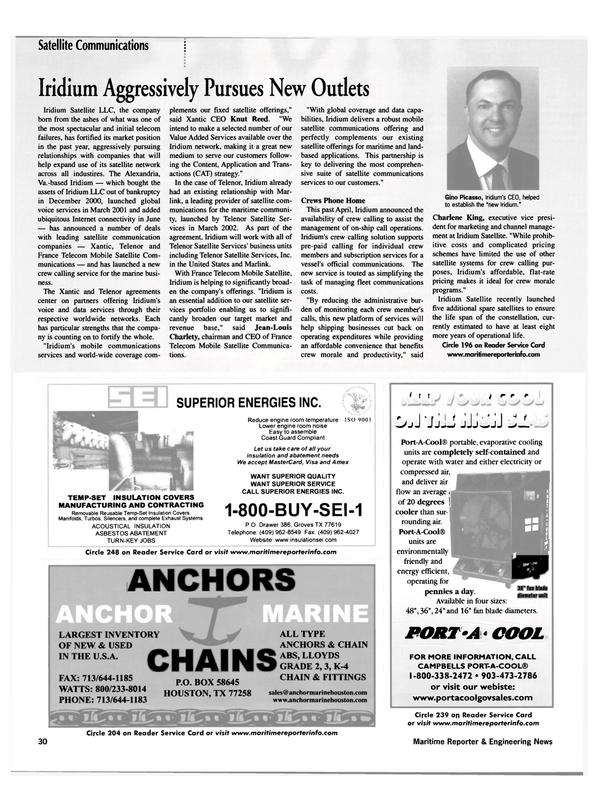 Maritime Reporter Magazine, page 30,  Jul 2002