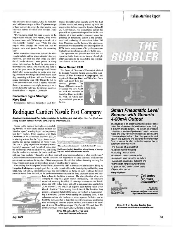 Maritime Reporter Magazine, page 33,  Jul 2002