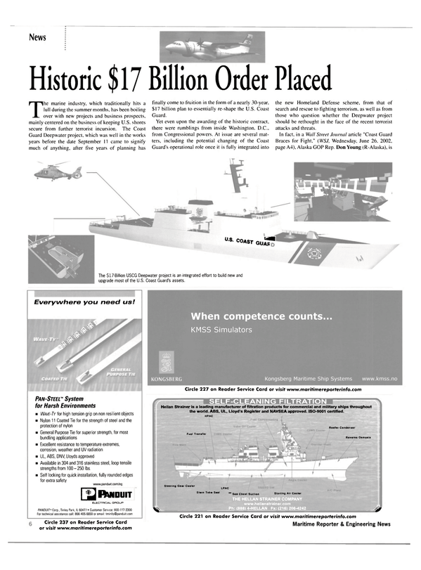 Maritime Reporter Magazine, page 6,  Jul 2002 Alaska