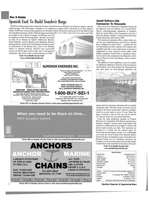 Maritime Reporter Magazine, page 8,  Aug 2002 Odvar Birkedal