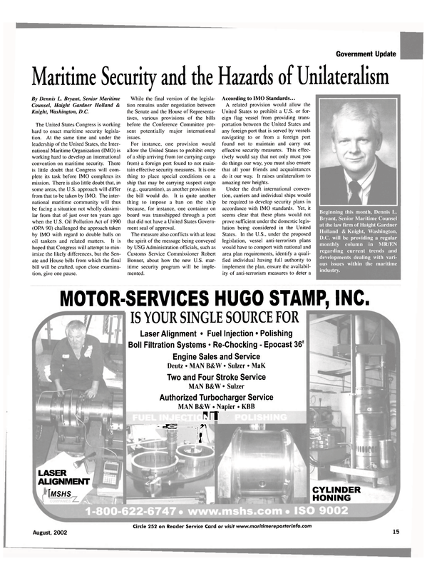 Maritime Reporter Magazine, page 15,  Aug 2002