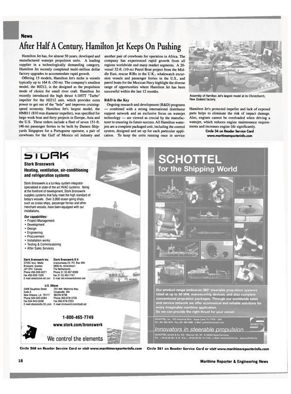 Maritime Reporter Magazine, page 18,  Aug 2002
