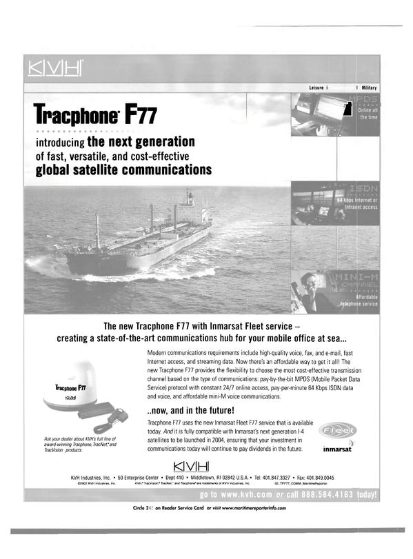 Maritime Reporter Magazine, page 32,  Aug 2002