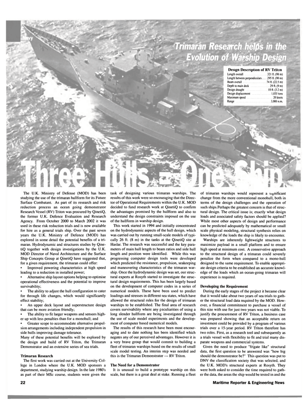 Maritime Reporter Magazine, page 22,  Sep 2002 computer design tools