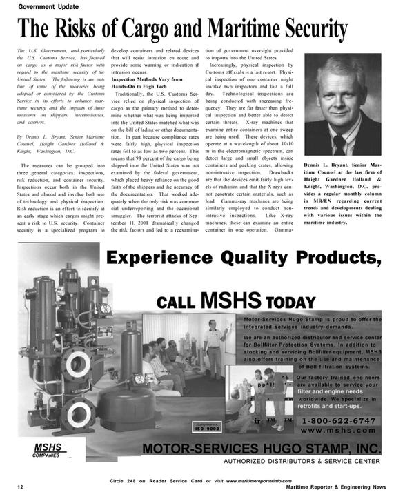 Maritime Reporter Magazine, page 12,  Oct 2002 Haight Gardner