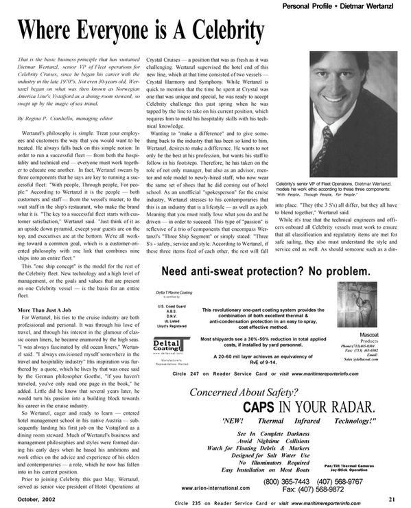 Maritime Reporter Magazine, page 21,  Oct 2002