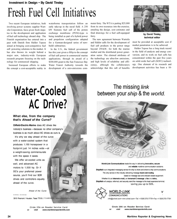 Maritime Reporter Magazine, page 24,  Oct 2002 Texas