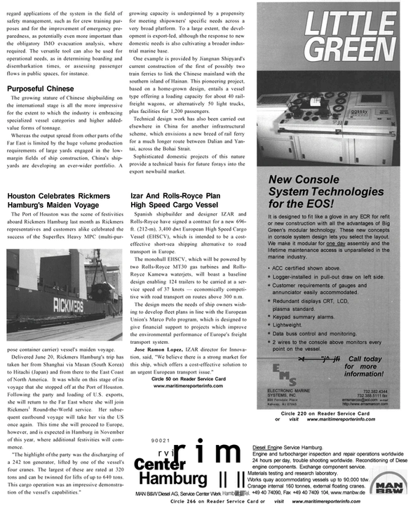 Maritime Reporter Magazine, page 27,  Oct 2002