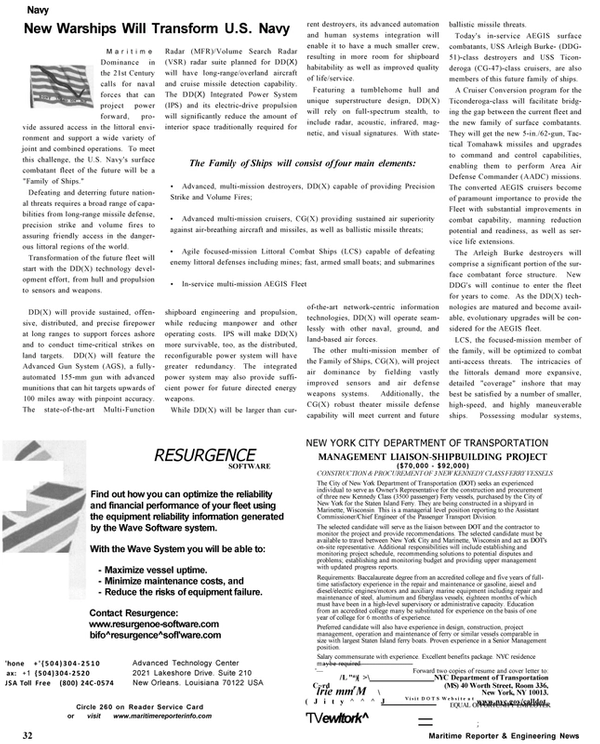 Maritime Reporter Magazine, page 32,  Oct 2002 New York