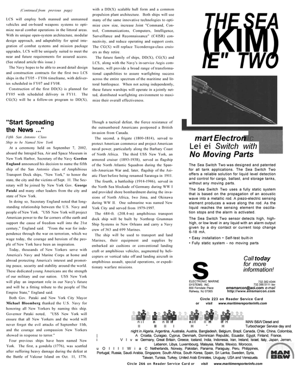 Maritime Reporter Magazine, page 33,  Oct 2002 New Jersey