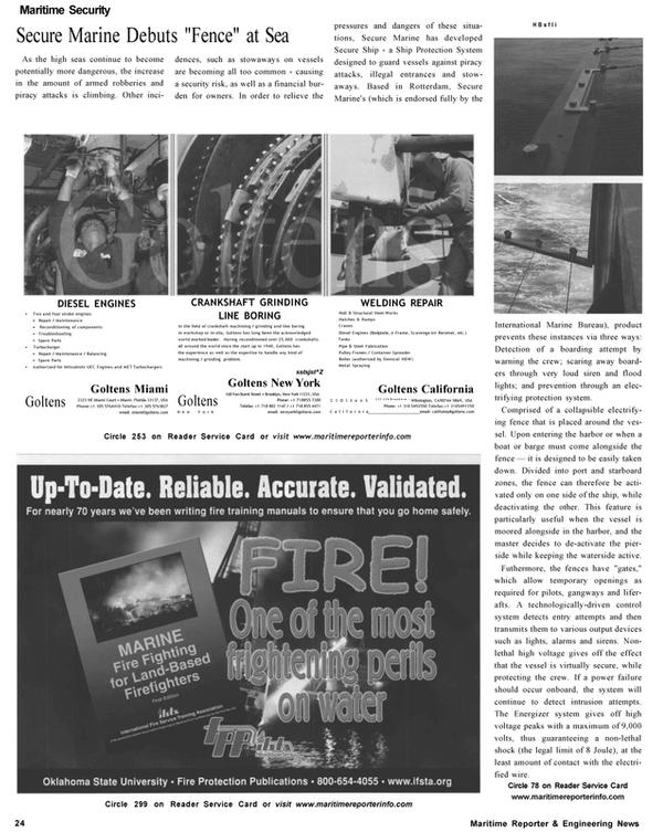 Maritime Reporter Magazine, page 24,  Nov 2002 HBsfli International Marine Bureau