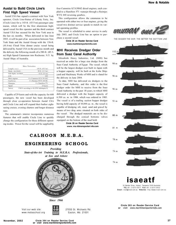 Maritime Reporter Magazine, page 27,  Nov 2002
