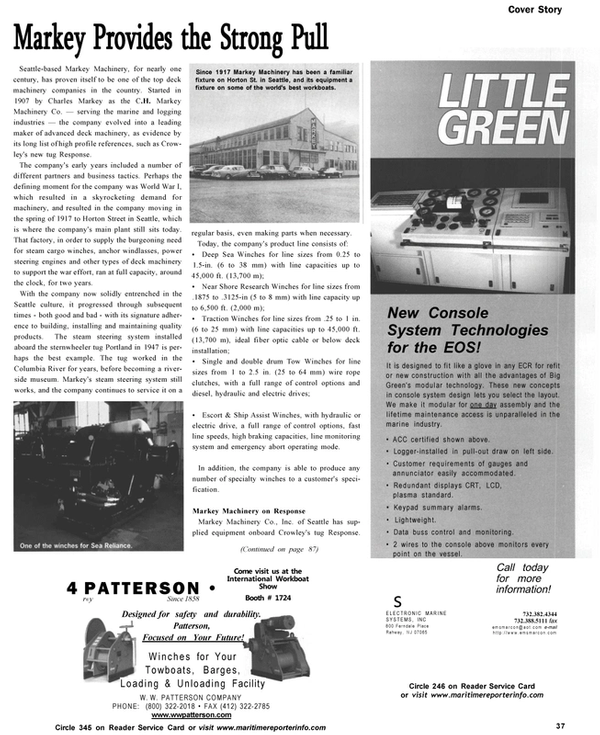 Maritime Reporter Magazine, page 37,  Nov 2002 Escort