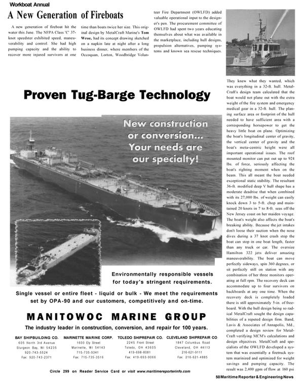 Maritime Reporter Magazine, page 48,  Nov 2002 Maryland
