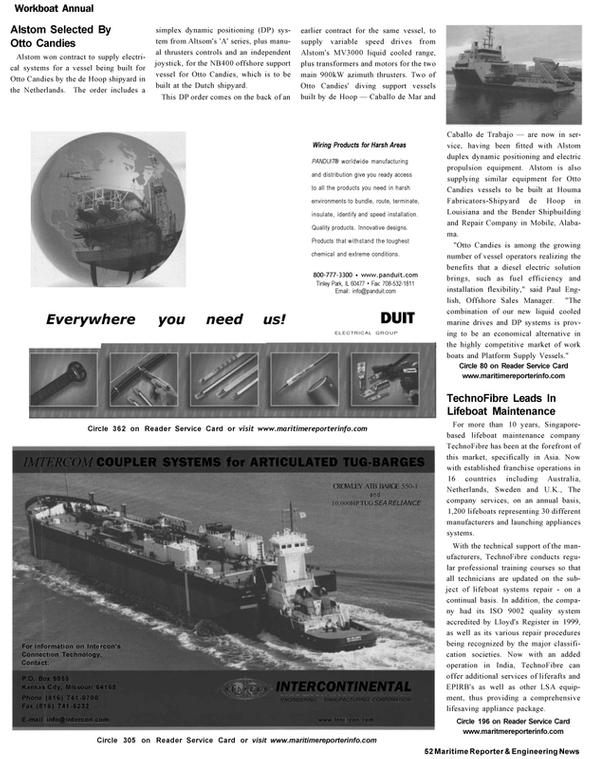 Maritime Reporter Magazine, page 50,  Nov 2002