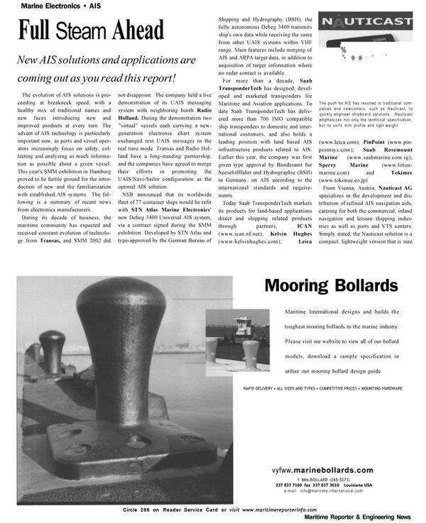 Maritime Reporter Magazine, page 62,  Nov 2002