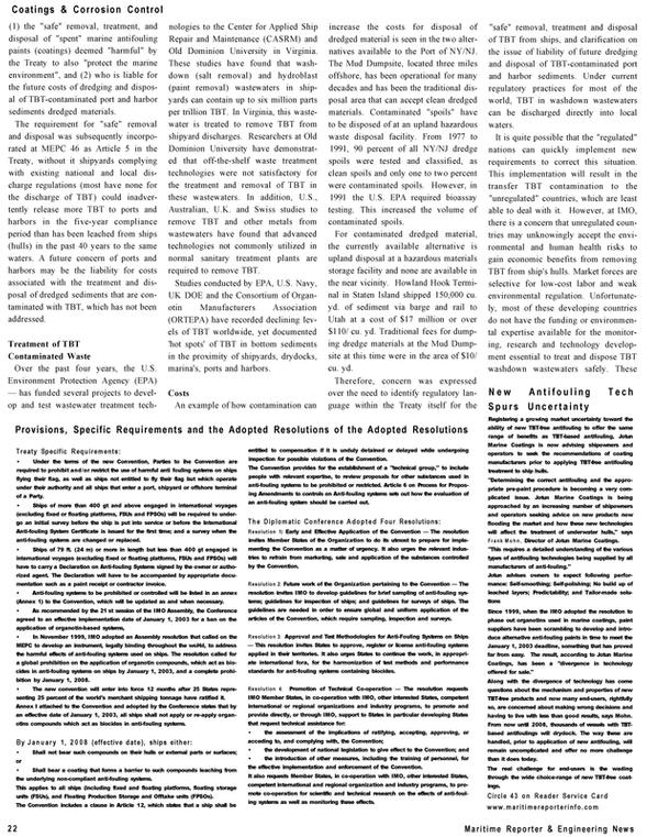 Maritime Reporter Magazine, page 22,  Dec 2002