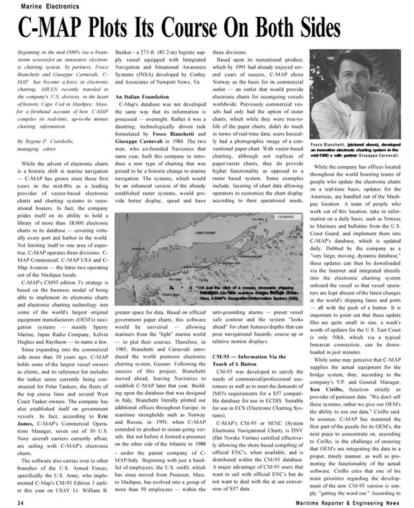 Maritime Reporter Magazine, page 34,  Dec 2002 Virginia