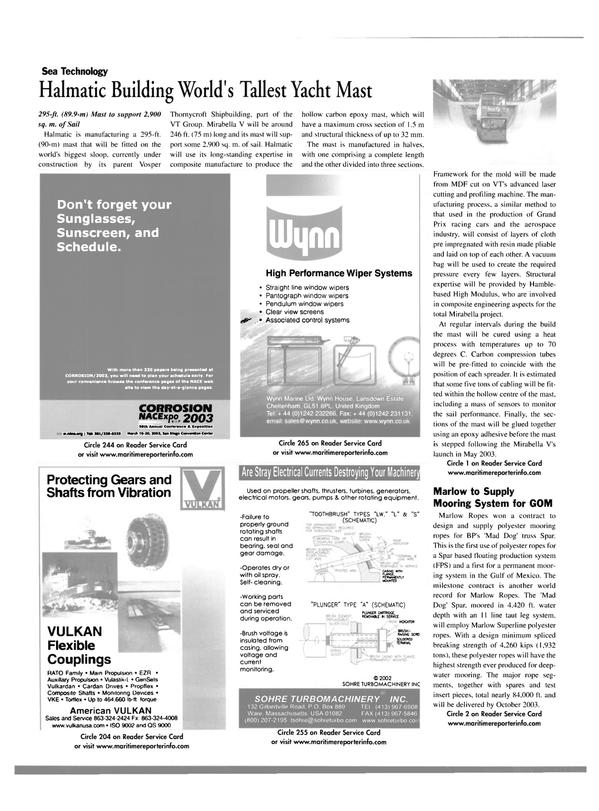 Maritime Reporter Magazine, page 26,  Jan 2003 Laser
