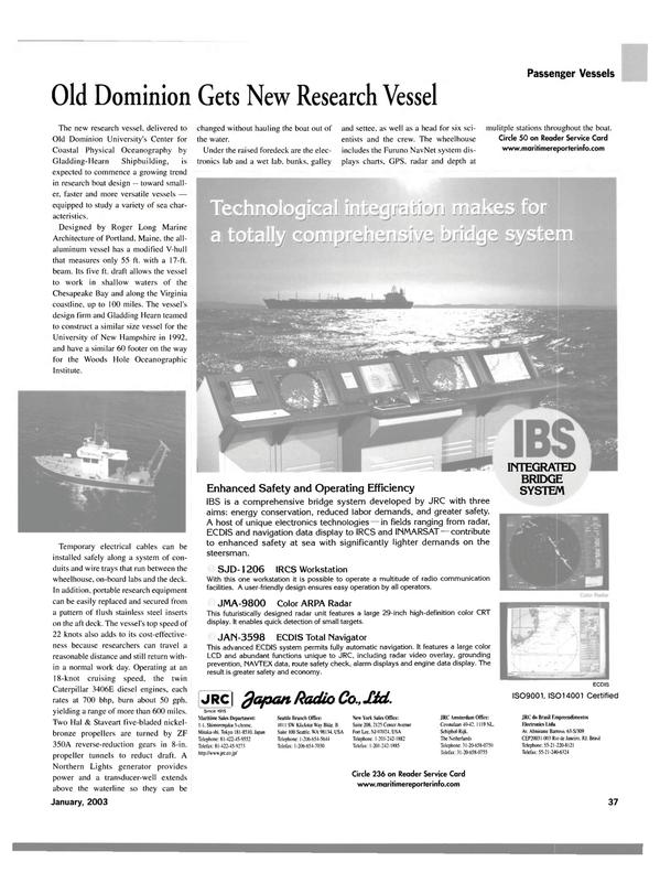 Maritime Reporter Magazine, page 37,  Jan 2003 av