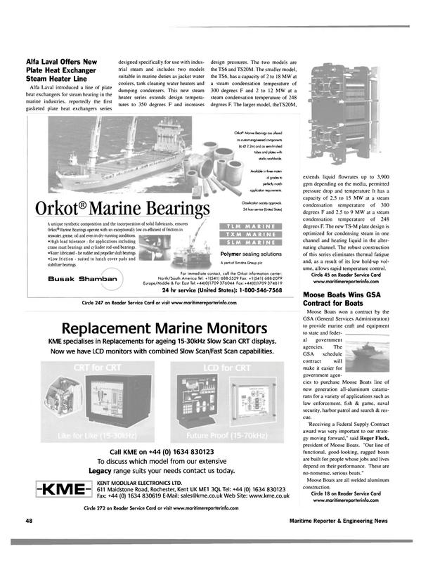 Maritime Reporter Magazine, page 48,  Jan 2003 oil