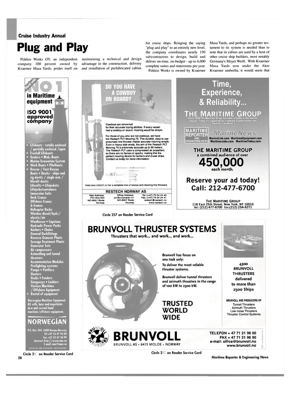 Maritime Reporter Magazine, page 28,  Feb 2003