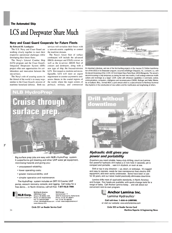 Maritime Reporter Magazine, page 26,  Mar 2003 Cooperate
