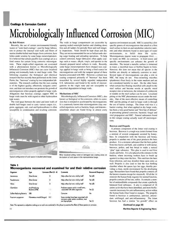 Maritime Reporter Magazine, page 48,  Mar 2003 steel