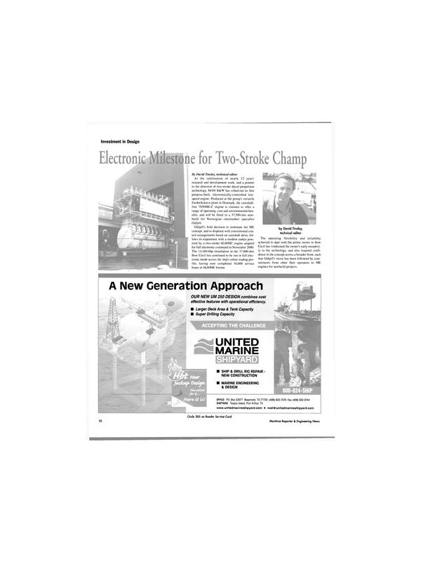 Maritime Reporter Magazine, page 10,  Apr 2003