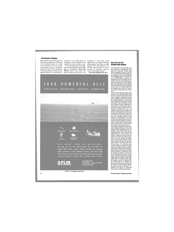 Maritime Reporter Magazine, page 14,  Apr 2003
