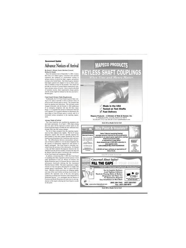 Maritime Reporter Magazine, page 19,  Apr 2003