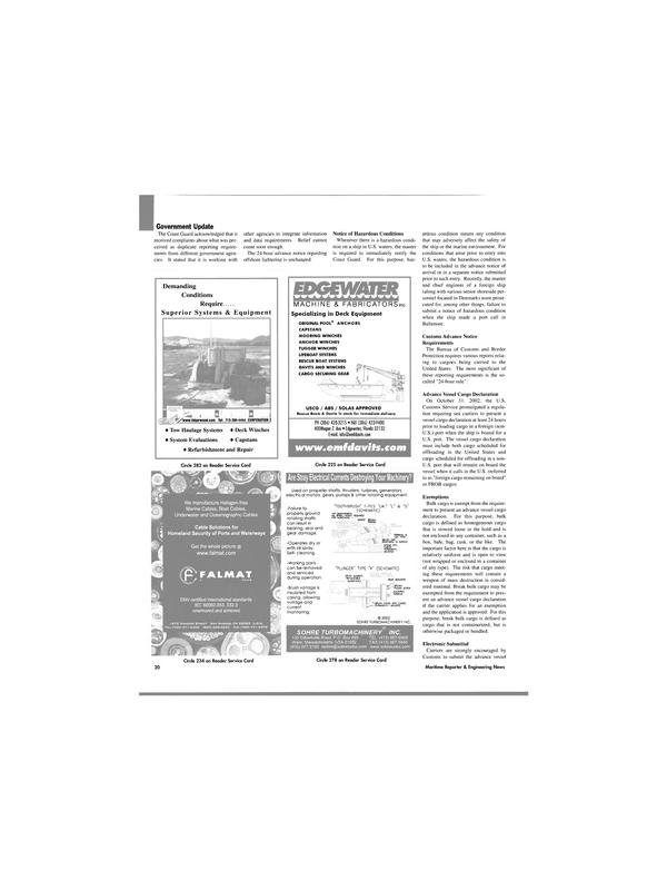Maritime Reporter Magazine, page 20,  Apr 2003 U.S. Customs Service