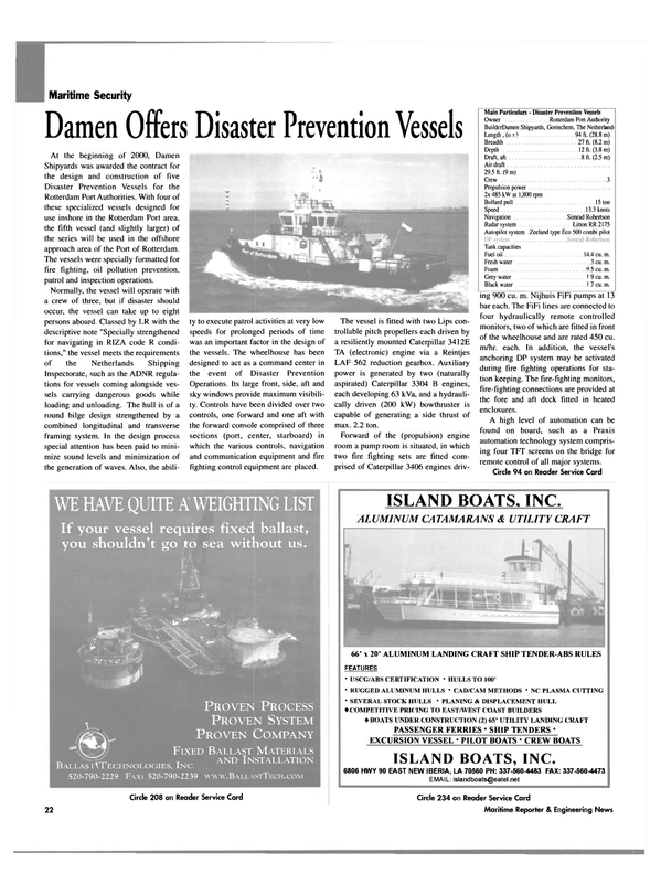 Maritime Reporter Magazine, page 22,  May 2003