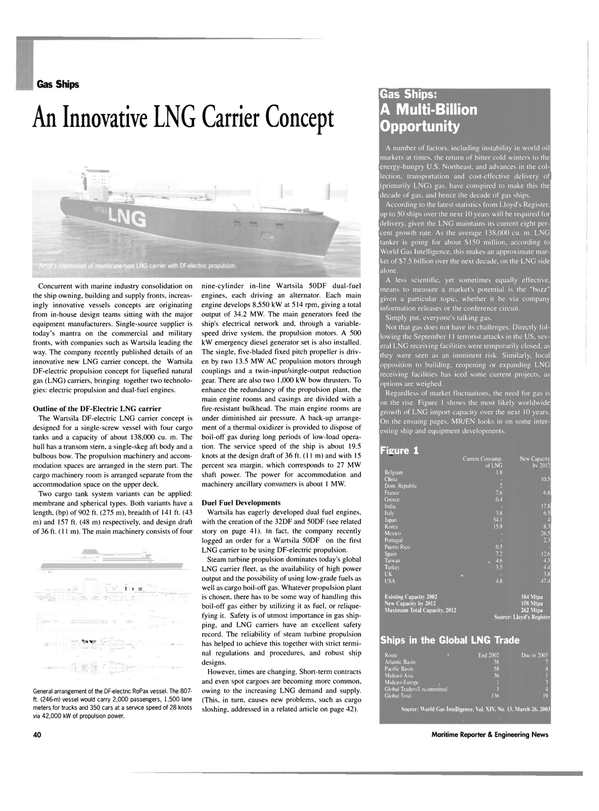 Maritime Reporter Magazine, page 40,  May 2003