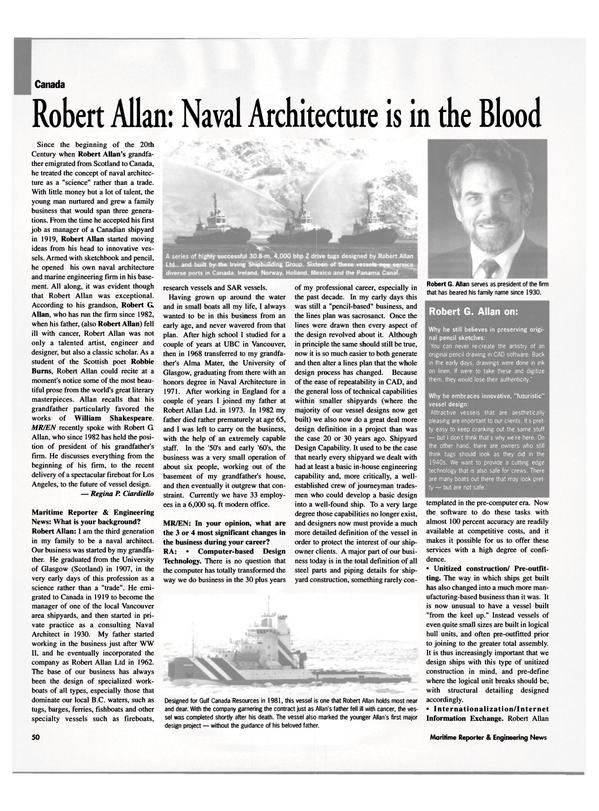 Maritime Reporter Magazine, page 50,  May 2003