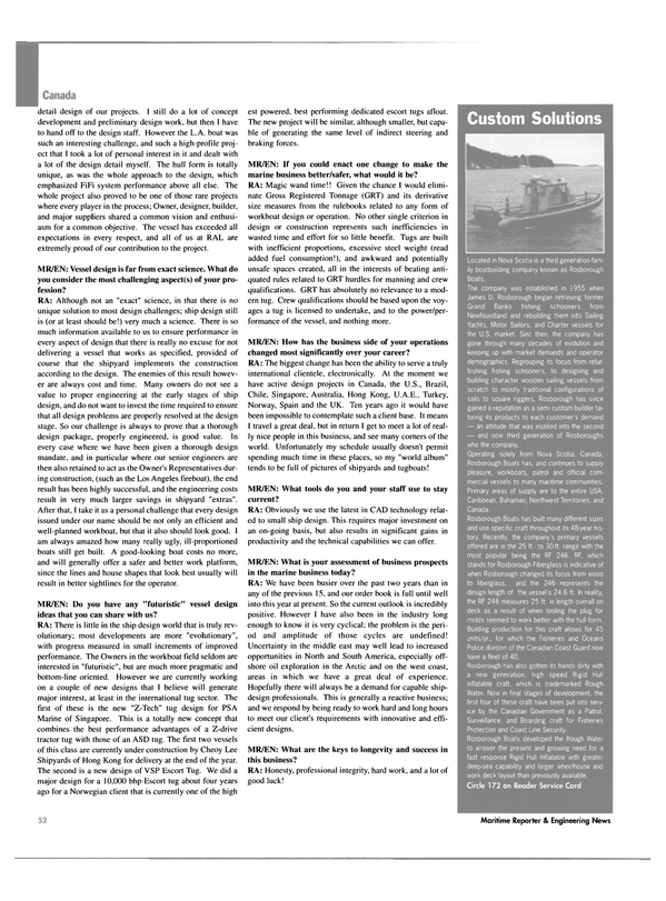 Maritime Reporter Magazine, page 52,  May 2003