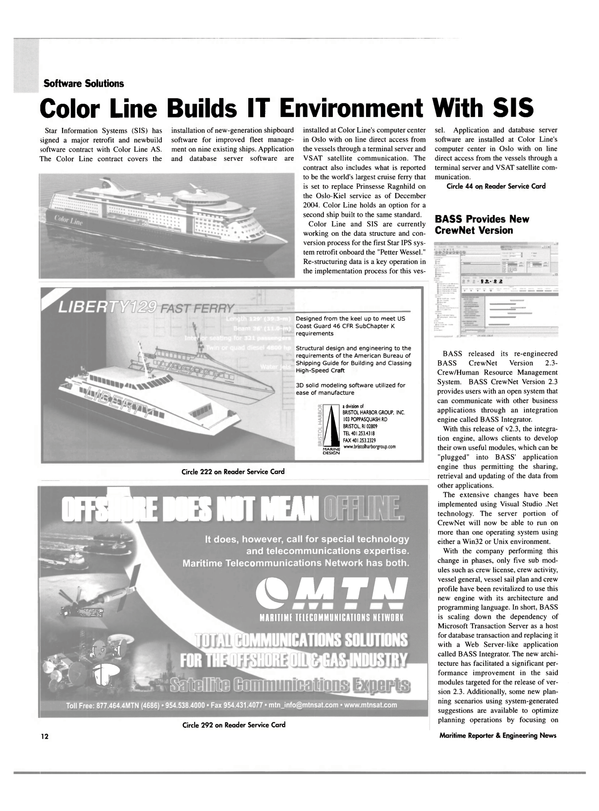 Maritime Reporter Magazine, page 12,  Jun 2003