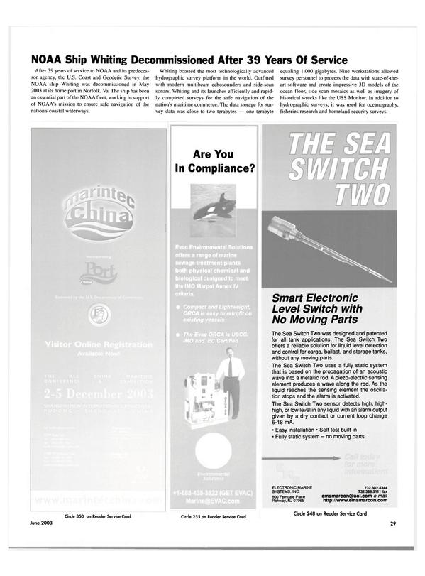 Maritime Reporter Magazine, page 29,  Jun 2003