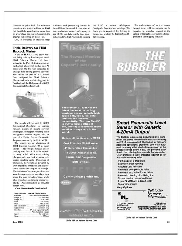 Maritime Reporter Magazine, page 31,  Jun 2003