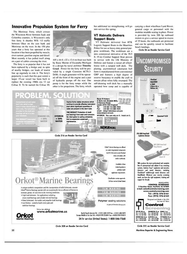 Maritime Reporter Magazine, page 32,  Jun 2003