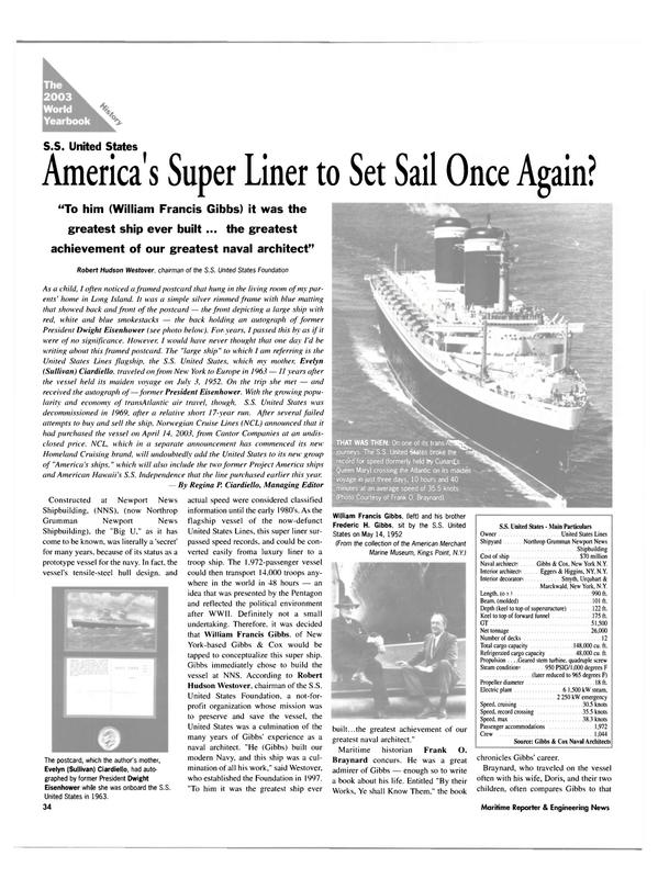 Maritime Reporter Magazine, page 34,  Jun 2003