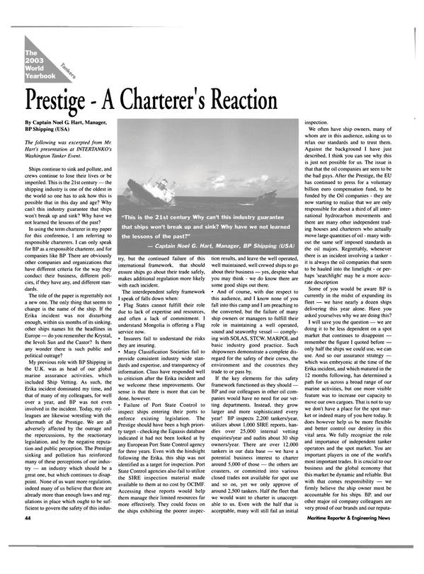 Maritime Reporter Magazine, page 44,  Jun 2003