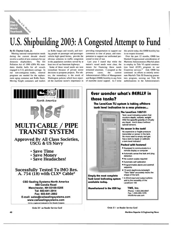 Maritime Reporter Magazine, page 48,  Jun 2003