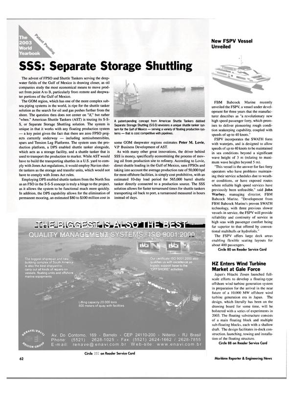 Maritime Reporter Magazine, page 62,  Jun 2003