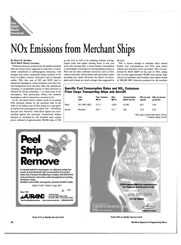 Maritime Reporter Magazine, page 68,  Jun 2003